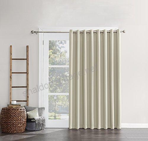 Sun Zero Easton Extra Wide Blackout Energy Efficient Sliding Inside Easton Thermal Woven Blackout Grommet Top Curtain Panel Pairs (#39 of 44)