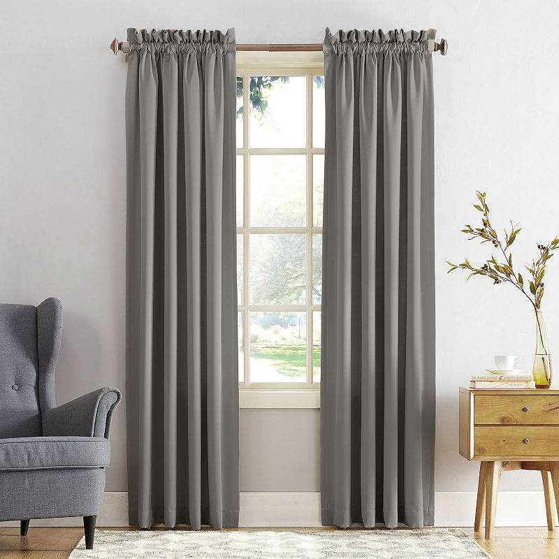 Sun Zero™ Emory 2 Pack Room Darkening Rod Pocket Curtain Inside Edward Moroccan Pattern Room Darkening Curtain Panel Pairs (View 41 of 50)