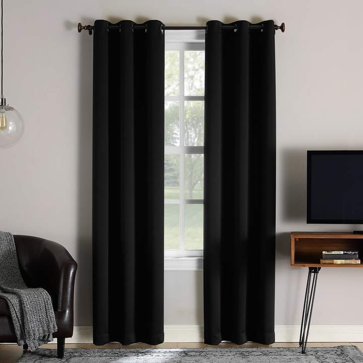 Sun Zero Extreme 2 Pack Norway Theater Grade Blackout Window In Eclipse Darrell Thermaweave Blackout Window Curtain Panels (#45 of 50)