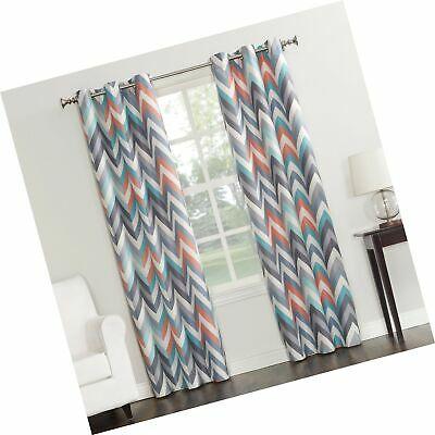 "Sun Zero Genaro Chevron Print Thermal Insulated Grommet Curtain Panel, 40""  X  692759226093   Ebay Within Cooper Textured Thermal Insulated Grommet Curtain Panels (View 31 of 50)"