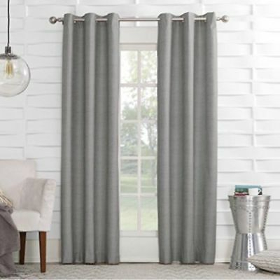 """Sun Zero Linen Texture Thermal Lined Curtain Panel, 40"""" X 63 With Regard To Cooper Textured Thermal Insulated Grommet Curtain Panels (View 33 of 50)"""