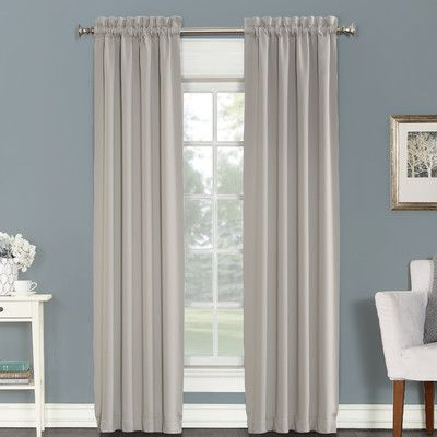 Sun Zero Madden Blackout Curtain Panels Color: Pearl, Size Intended For Luxury Collection Cranston Sheer Curtain Panel Pairs (View 36 of 42)