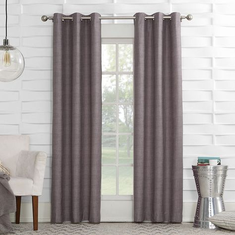 Sun Zero™ Mirage Room Darkening Grommet Top Curtain Panel With Sunsmart Abel Ogee Knitted Jacquard Total Blackout Curtain Panels (View 15 of 19)