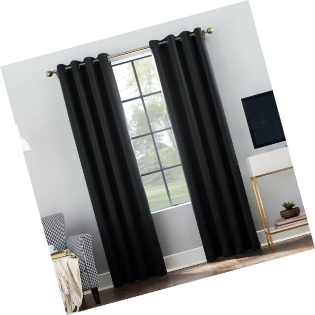 "Sun Zero Oslo Theater Grade Extreme 100% Blackout Grommet Curtain Panel,  52"" With Riley Kids Bedroom Blackout Grommet Curtain Panels (#24 of 28)"