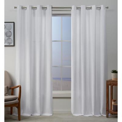 Sun Zero Semi Opaque Stone Gregory Room Darkening Grommet With Regard To Baroque Linen Grommet Top Curtain Panel Pairs (View 42 of 48)
