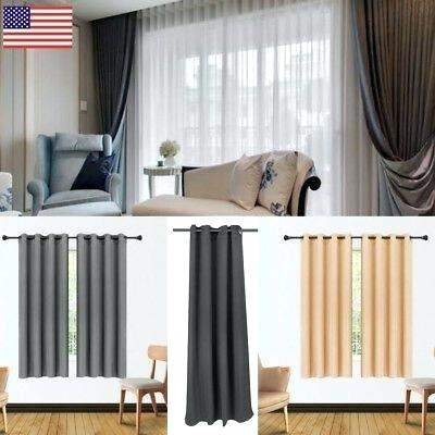 Superior Leaves Blackout Curtain Set Of 2 Thermal Insulated For Superior Leaves Insulated Thermal Blackout Grommet Curtain Panel Pairs (#39 of 50)
