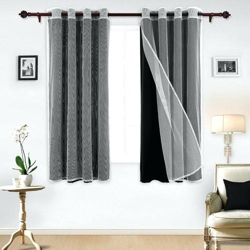 Superior Leaves Blackout Curtain Set Of 2 Thermal Insulated Inside Superior Leaves Insulated Thermal Blackout Grommet Curtain Panel Pairs (#40 of 50)
