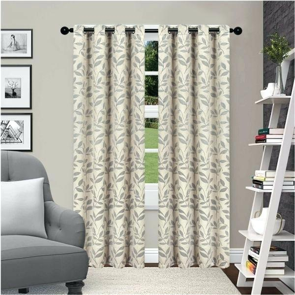 Superior Leaves Blackout Curtain Set Of 2 Thermal Insulated Throughout Thermal Insulated Blackout Grommet Top Curtain Panel Pairs (#38 of 50)