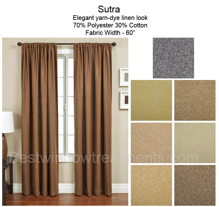 Sutra Curtain Drapery Panels Within Bark Weave Solid Cotton Curtains (View 41 of 50)