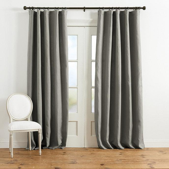 Suzanne Kasler Duck Fabric Gray Curtain Panel Pertaining To Signature French Linen Curtain Panels (#41 of 50)