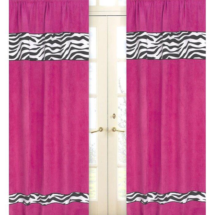 Sweet Jojo Designs Zebra Animal Print Semi Sheer Rod Pocket Regarding Ink Ivy Ankara Cotton Printed Single Curtain Panels (View 39 of 50)