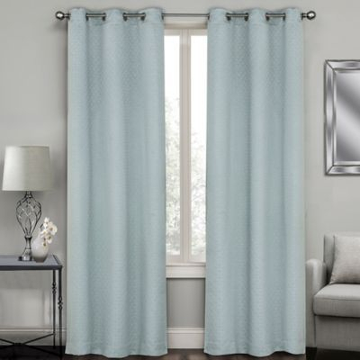 """Sydney Jacquard 108"""" Grommet Window Curtain Panel Pair In For Chester Polyoni Pintuck Curtain Panels (#24 of 26)"""