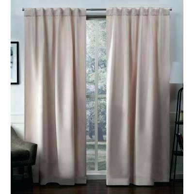 Tab Top Blackout Curtain Panels L Woven Hidden Metallic Within Total Blackout Metallic Print Grommet Top Curtain Panels (#42 of 50)