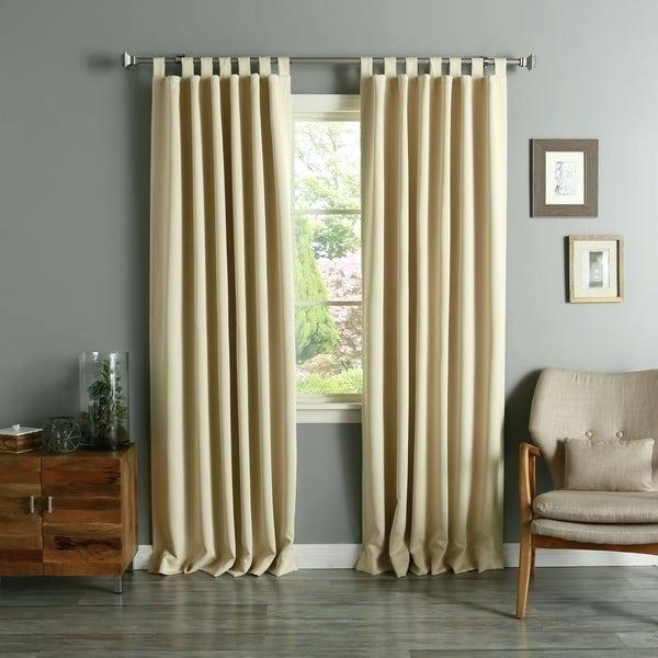 Tab Top Blackout Curtains – Cahousing Within Solid Thermal Insulated Blackout Curtain Panel Pairs (View 41 of 50)