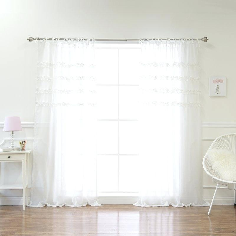 Tab Top Curtains Within Tab Top Sheer Single Curtain Panels (#35 of 50)