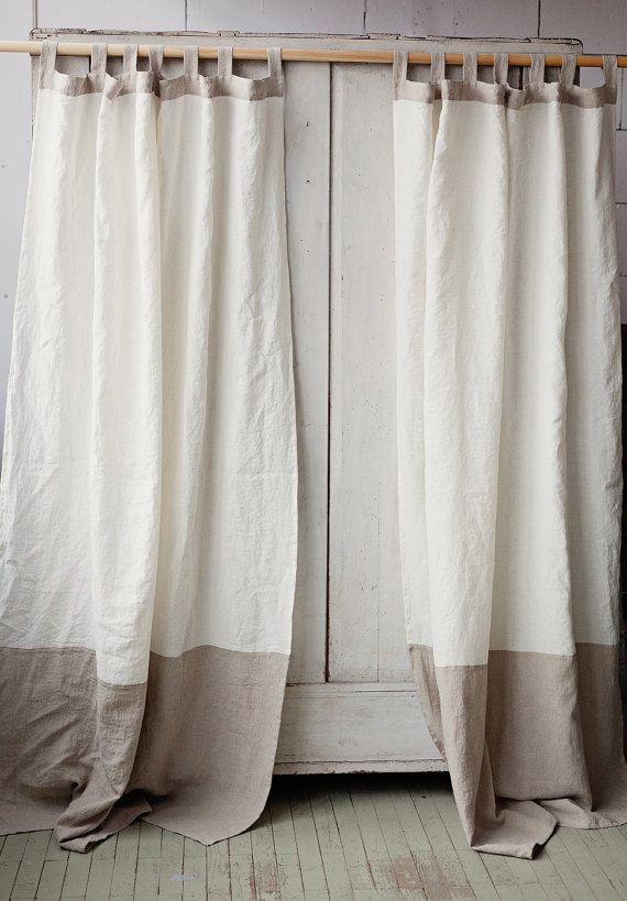 Tab Top Linen Curtain Panel In Two Colors (#35 of 40)