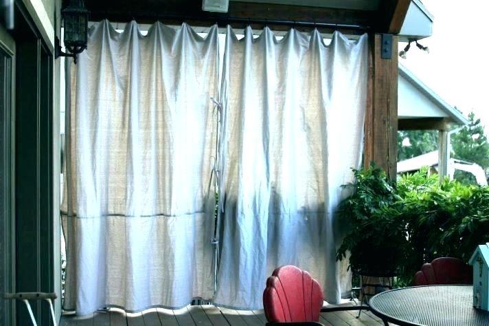 Tab Top Outdoor Curtains Canvas Brick Outdoor Curtain With Pertaining To Matine Indoor/outdoor Curtain Panels (#39 of 50)