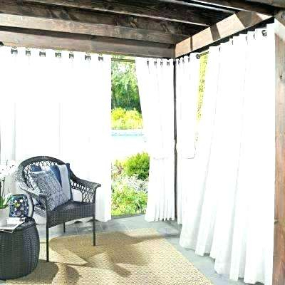 Tab Top Outdoor Curtains Canvas Brick Outdoor Curtain With Pertaining To Matine Indoor/outdoor Curtain Panels (#38 of 50)