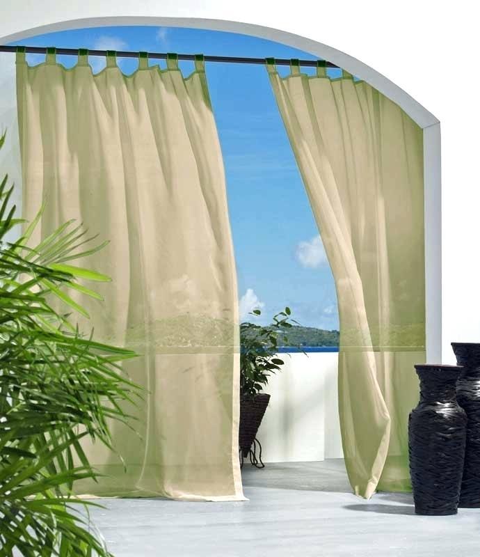 Tab Top Outdoor Curtains – Eco Server Regarding Matine Indoor/outdoor Curtain Panels (#47 of 50)