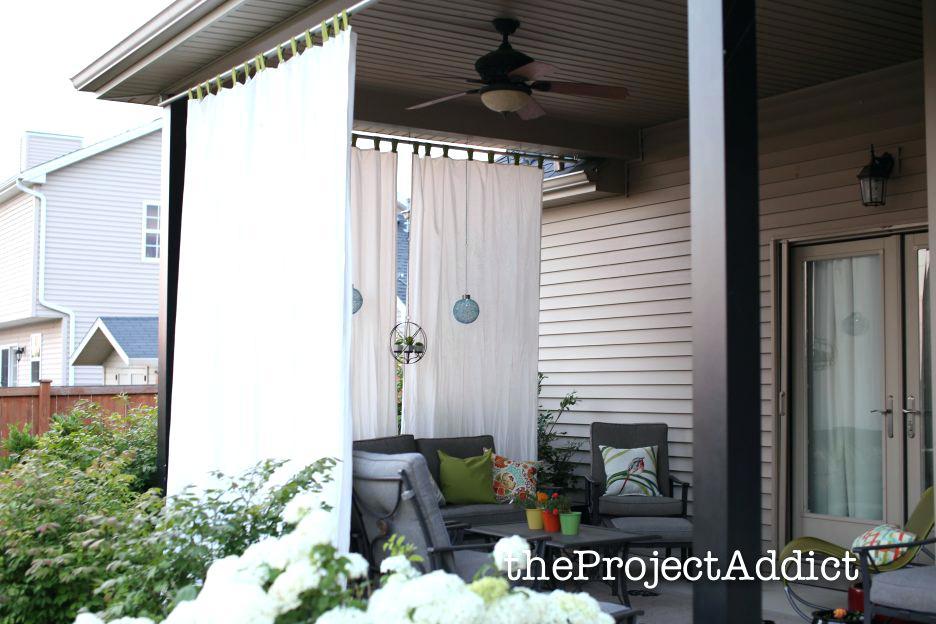 Tab Top Outdoor Curtains Indoor Outdoor Drapery Panels Tab In Matine Indoor/outdoor Curtain Panels (#40 of 50)