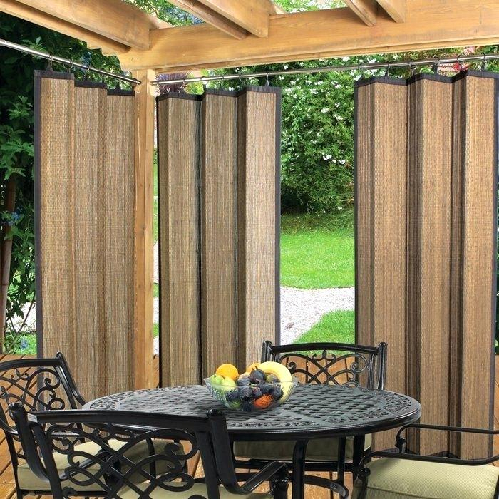 Tab Top Outdoor Curtains Solid Semi Sheer Tab Top Single In Tab Top Sheer Single Curtain Panels (#36 of 50)