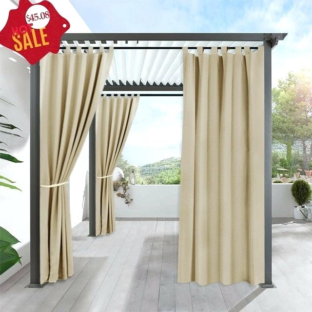 Tab Top Outdoor Curtains Summer White Indoor Outdoor Curtain Throughout Matine Indoor/outdoor Curtain Panels (#45 of 50)