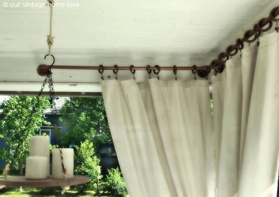 Tab Top Outdoor Curtains Summer White Indoor Outdoor Curtain With Matine Indoor/outdoor Curtain Panels (#46 of 50)