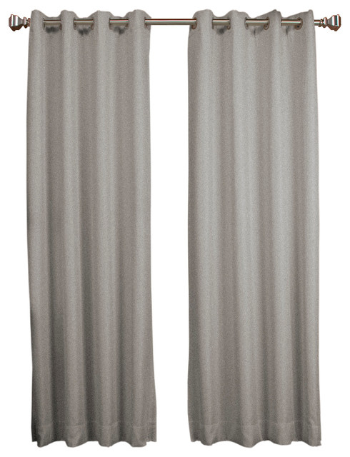 """Tacoma Double Blackout Grommet Panel, Stone, 50""""x96"""" For Easton Thermal Woven Blackout Grommet Top Curtain Panel Pairs (#40 of 44)"""