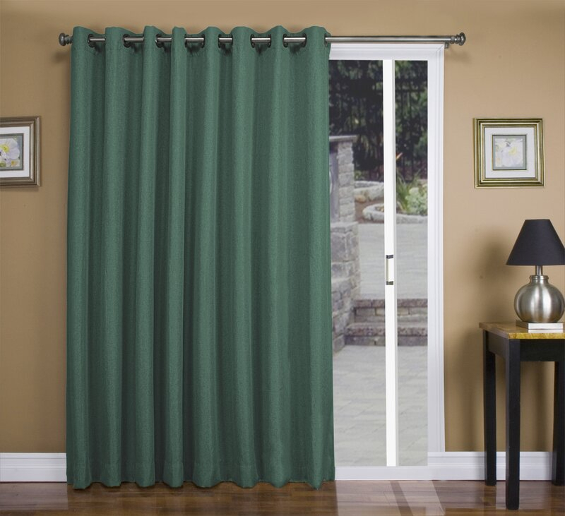 Tacoma Patio Solid Blackout Thermal Grommet Single Curtain Panel Within Tacoma Double Blackout Grommet Curtain Panels (View 38 of 48)