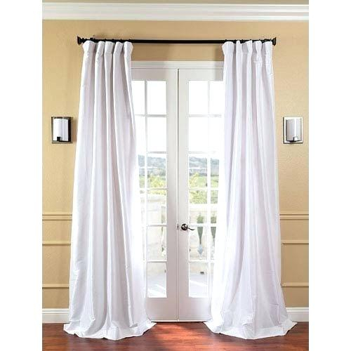 Taffeta Drapes Faux Silk Pink Curtains Uk – Clemsonpassport With Regard To Solid Faux Silk Taffeta Graphite Single Curtain Panels (#46 of 50)