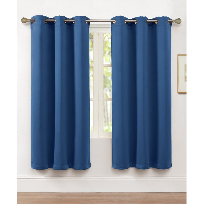 Tamara Solid Max Blackout Grommet Single Curtain Panel With Regard To Blackout Grommet Curtain Panels (View 10 of 40)