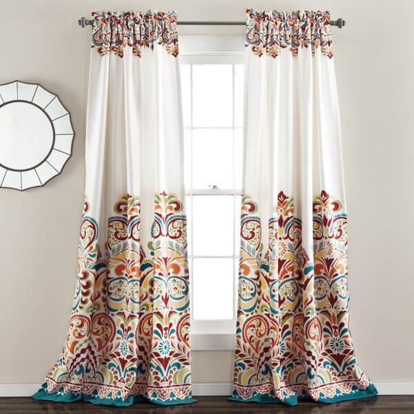 Tangerine Curtains | Wayfair Pertaining To Classic Hotel Quality Water Resistant Fabric Curtains Set With Tiebacks (#36 of 50)