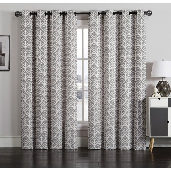 Tanya 6 Grommet Jacquard Window Curtain Panel Pair Within The Curated Nomad Duane Jacquard Grommet Top Curtain Panel Pairs (#27 of 50)