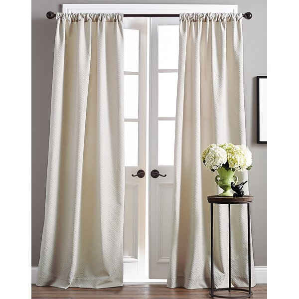 Taupe Curtains | Wayfair Throughout Tassels Applique Sheer Rod Pocket Top Curtain Panel Pairs (View 42 of 45)
