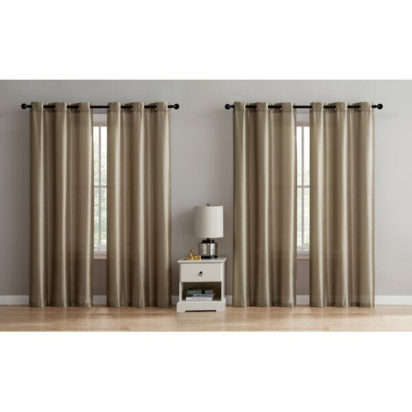 Taupe Sheer Curtains | Wayfair Inside Pairs To Go Victoria Voile Curtain Panel Pairs (#25 of 30)