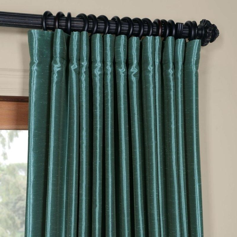Teal Curtain Panels Blackout Thermal Rod Pocket Single Throughout Thermal Rod Pocket Blackout Curtain Panel Pairs (#44 of 50)