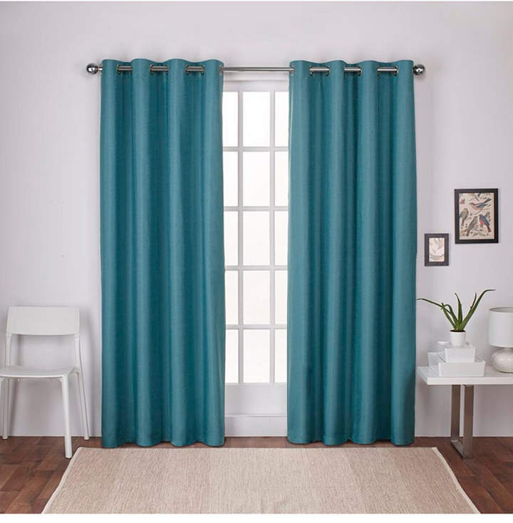 Teal Curtain Panels – Shopstyle Intended For Woven Blackout Curtain Panel Pairs With Grommet Top (#39 of 42)