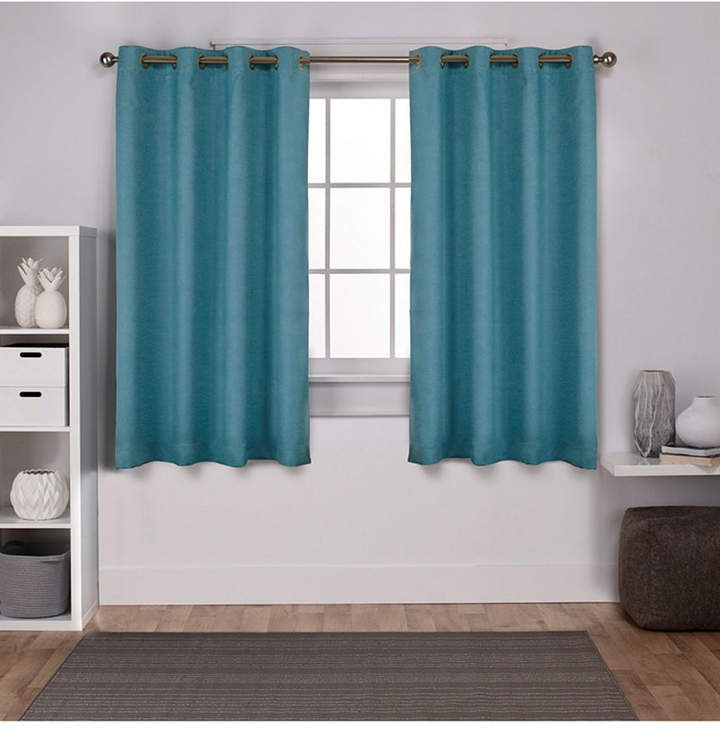 Teal Curtain Panels – Shopstyle Regarding Oxford Sateen Woven Blackout Grommet Top Curtain Panel Pairs (View 38 of 44)
