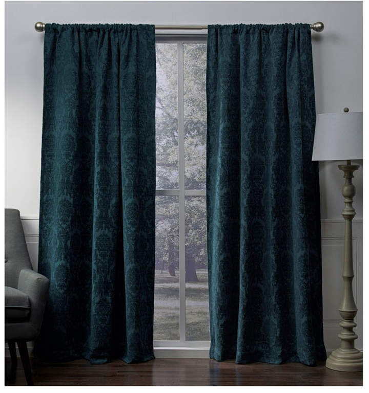 Teal Curtain Panels – Shopstyle With Oxford Sateen Woven Blackout Grommet Top Curtain Panel Pairs (View 40 of 44)
