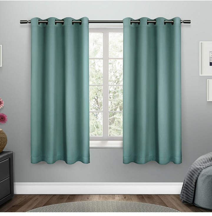 Teal Curtain Panels – Shopstyle With Regard To London Blackout Panel Pair (#37 of 41)