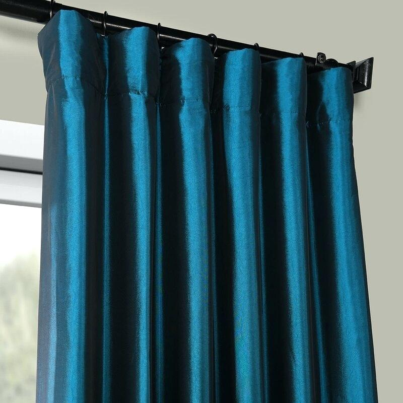 Teal Curtain Panels Solid Max Polyester Blackout Thermal Rod For Pastel Damask Printed Room Darkening Grommet Window Curtain Panel Pairs (#44 of 50)