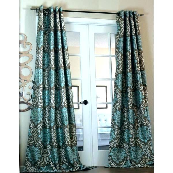 Teal Panel Curtains In Copper Grove Fulgence Faux Silk Grommet Top Panel Curtains (View 47 of 50)