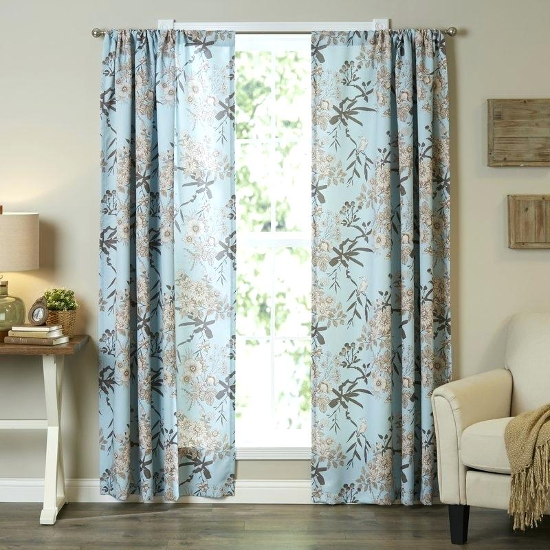 Teal Room Darkening Curtains – Alphalist In Weeping Flowers Room Darkening Curtain Panel Pairs (View 21 of 50)