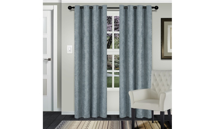 Teal Waverly Insulated Thermal Blackout Grommet Curtain Regarding Superior Solid Insulated Thermal Blackout Grommet Curtain Panel Pairs (#39 of 45)