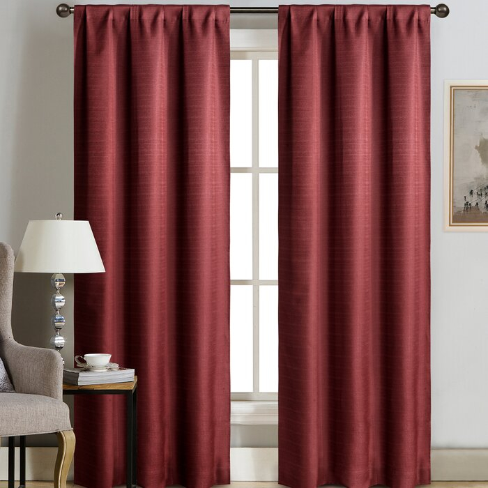 Terrazas Solid Color Blackout Grommet Curtain Panels Inside Blackout Grommet Curtain Panels (View 25 of 40)