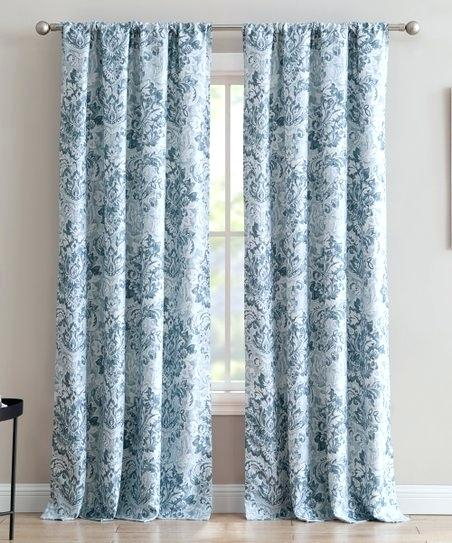 Textured Curtain Panels Blue Textured Curtain Panel Alpine For Oxford Sateen Woven Blackout Grommet Top Curtain Panel Pairs (View 41 of 44)