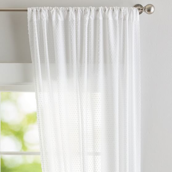 Textured Dot Sheer Curtain | Products | Curtains, Sheer Pertaining To Elowen White Twist Tab Voile Sheer Curtain Panel Pairs (View 31 of 36)