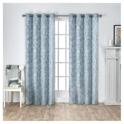 Textured Linen Curtains Drapes West Elm New Abbey Willow Pertaining To Baroque Linen Grommet Top Curtain Panel Pairs (View 43 of 48)