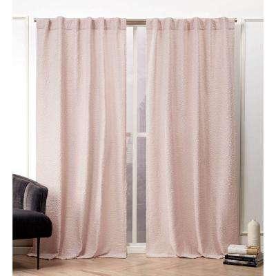 Textured Matelass Blush Room Darkening Hidden Tab Top Curtain Panel – 50  In. W X 84 In (View 41 of 46)