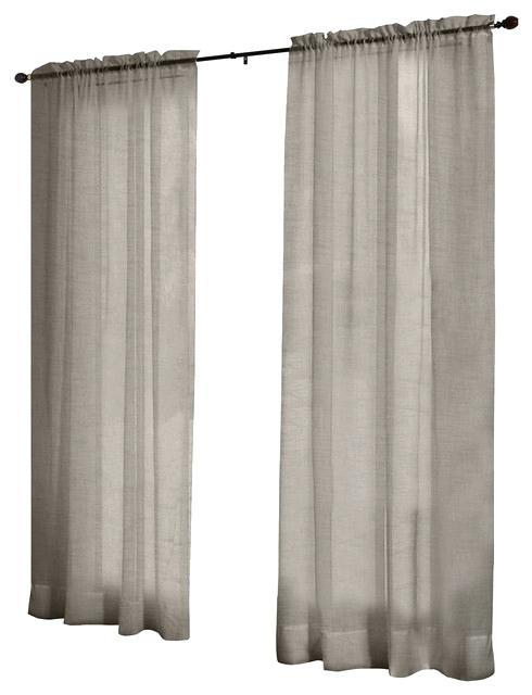 Textured Sheer Curtains Tassels Applique Bordered Textured With Regard To Tassels Applique Sheer Rod Pocket Top Curtain Panel Pairs (View 43 of 45)